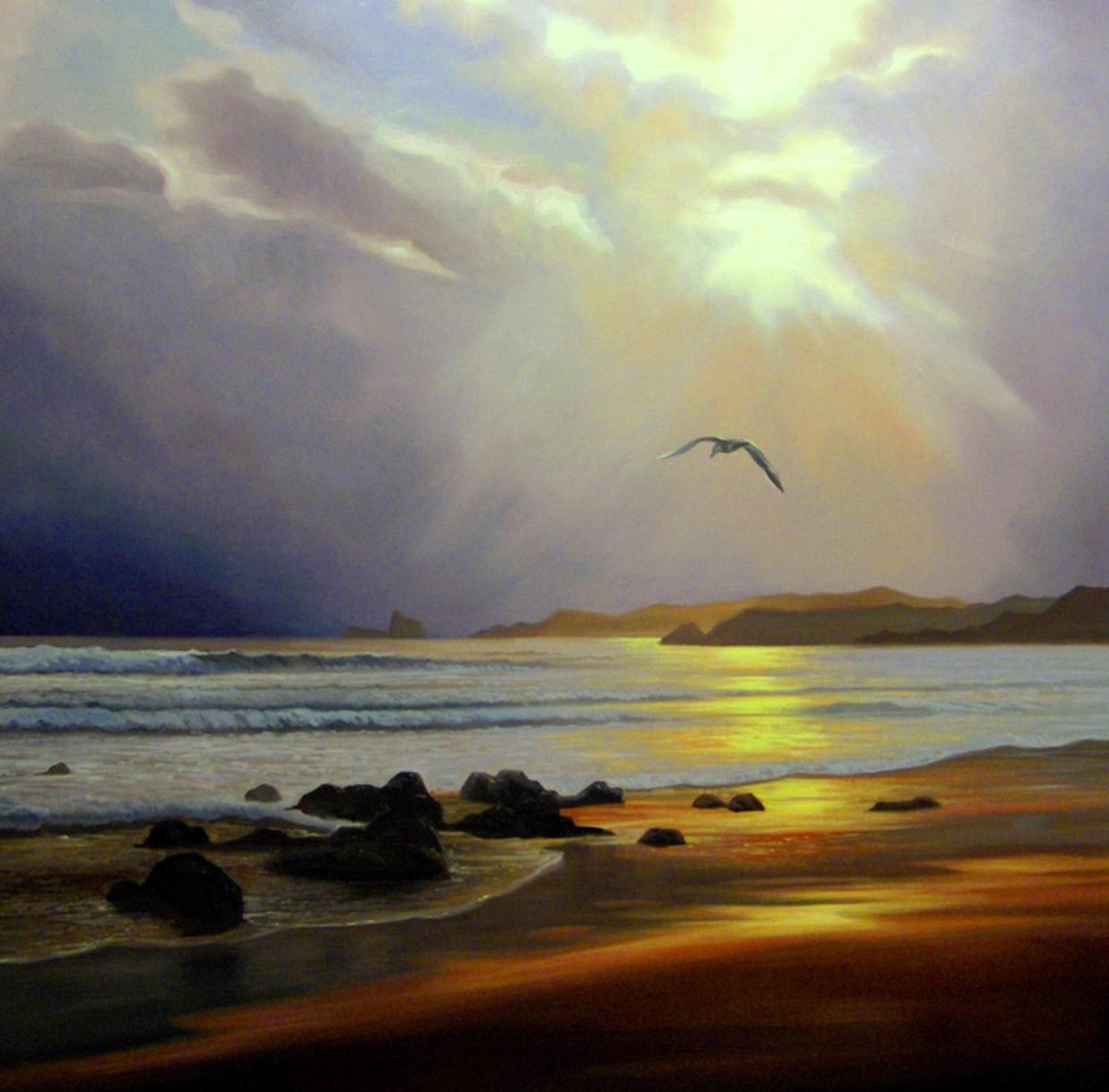 Im genes arte pinturas oleos fant sticos paisajes realistas - Enmarcar lienzo ...