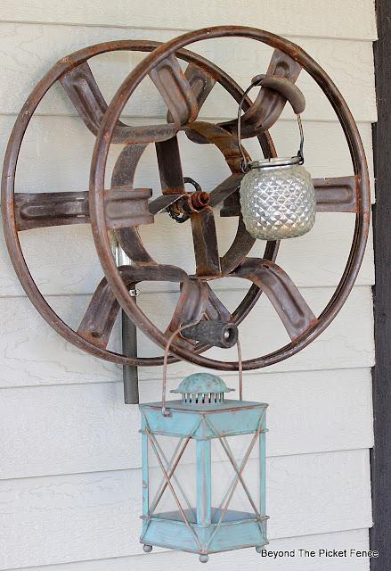 Repurposed Thrift Store Hose Reel