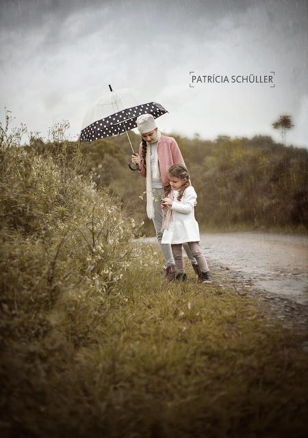 Sessão fotográfica na chuva Patrícia Schüller Fotografias Rio do Sul