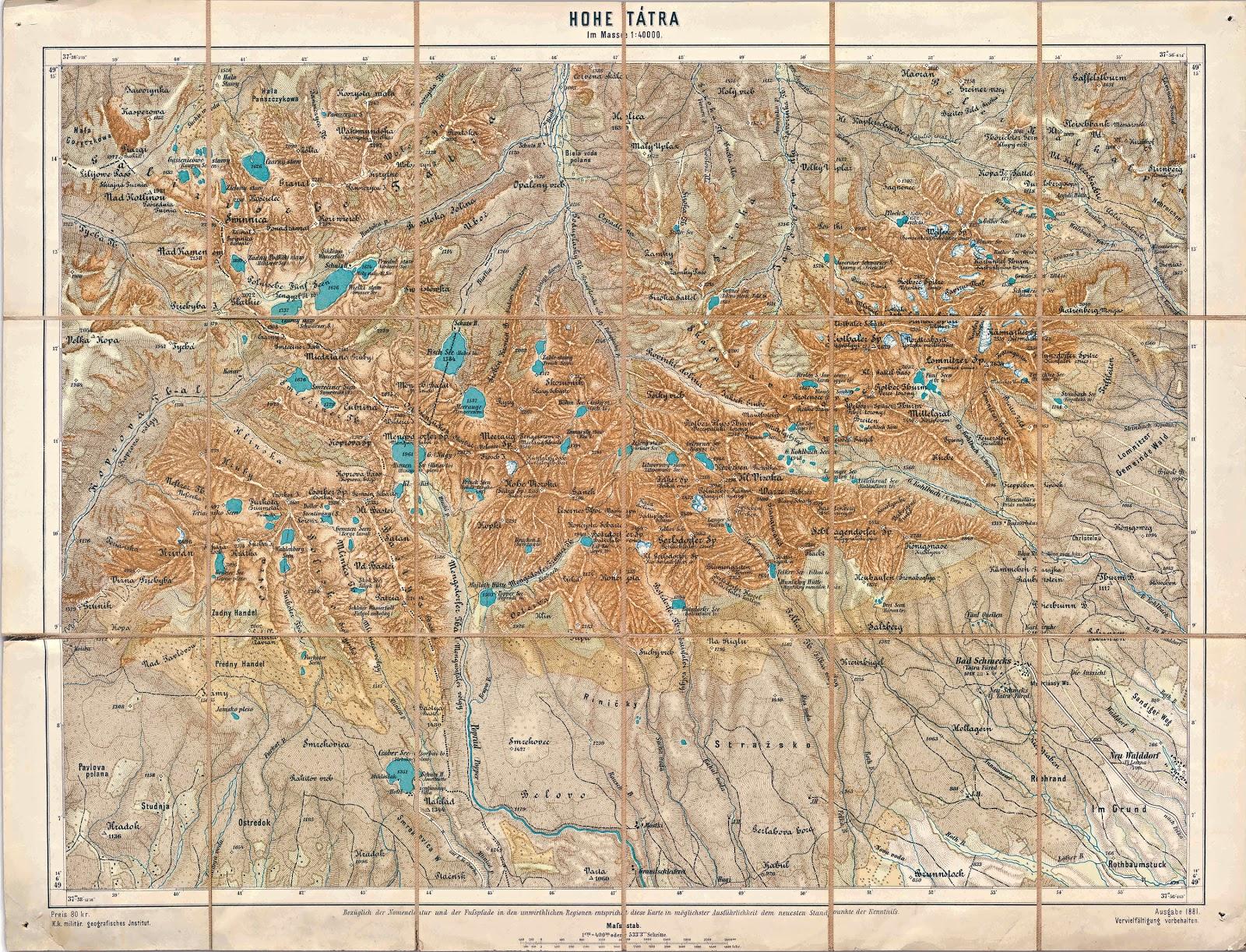 Magas Tatra Info Hohe Tatra 1881