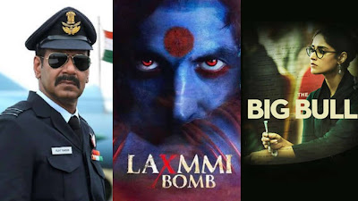 Bollywood much awaited movies like bhuj, laxmmi bomb and big bull should be delayed.