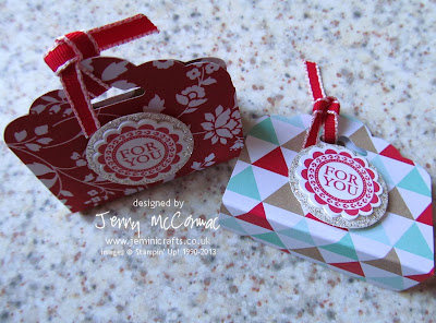 Chocolate pocket Stampin Up Jemini Crafts