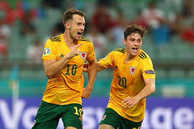 Wales duo Aaron Ramsey and Daniel James