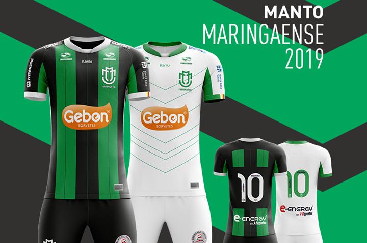 Veja como ficaram as novas camisas do Maringá (PR) para 2019 f8ef28981dede
