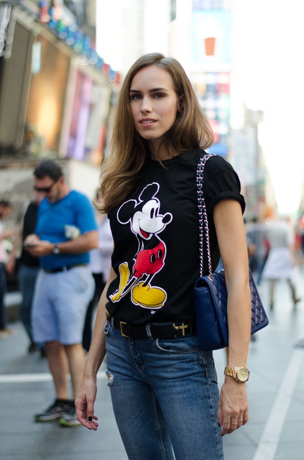 mickey tshirt casual minimal outfit