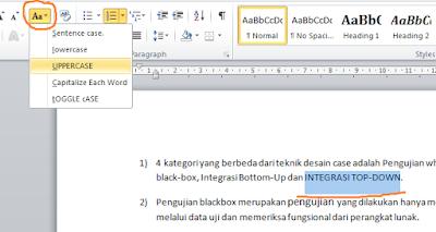 Shortcut Memperbesar Dan Memperkecil Huruf Pada Ms Word