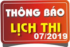 Lịch thi sát hạch lái xe ô tô B1, B2, D, E tháng 07/2019 tại Hà Nội