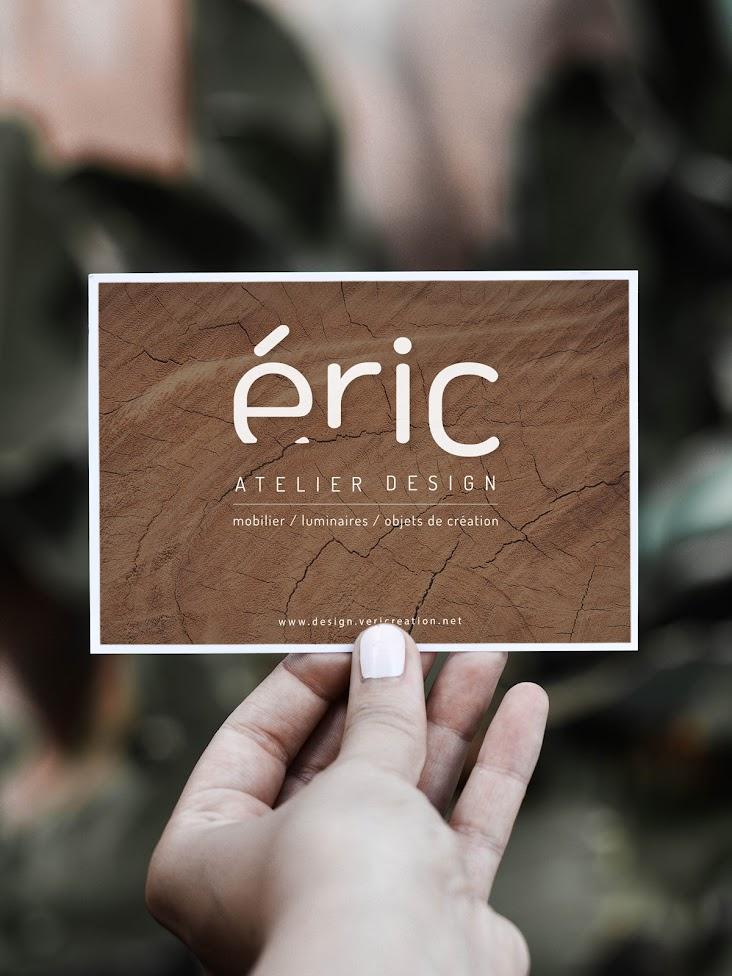 Design graphique carte de visite Eric Atelier design