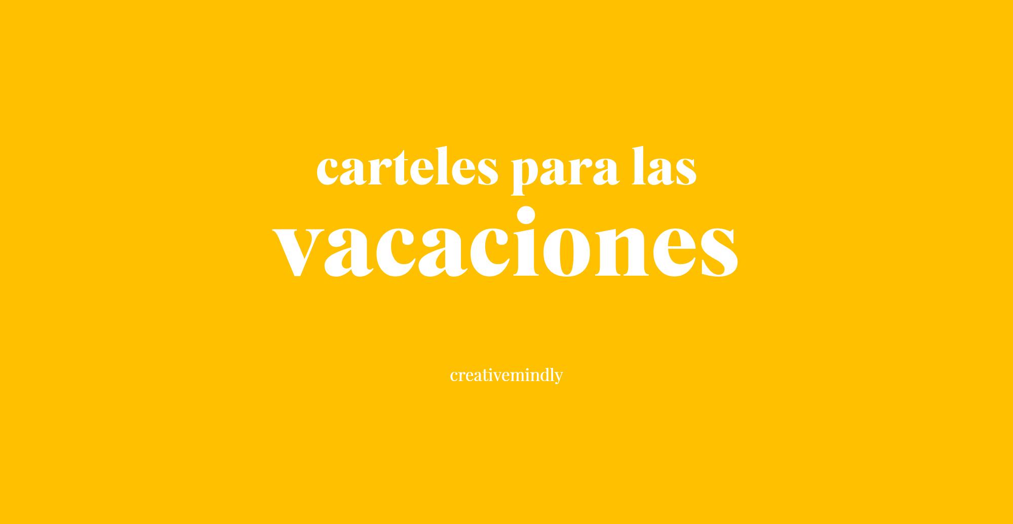 cartel cerrado por vacaciones