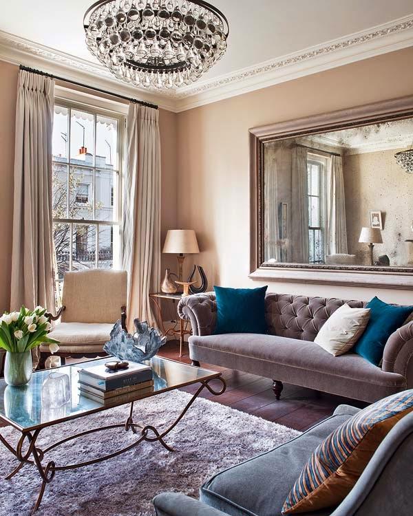 una vivienda inglesa con glamour chic