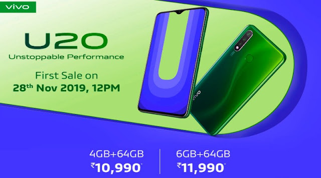 Latest Smartphone Review Of Vivo U20 - Full Specification