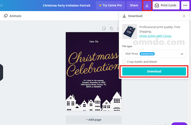 Download desain undangan natal