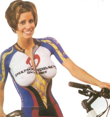 Cycliste sexy jolie
