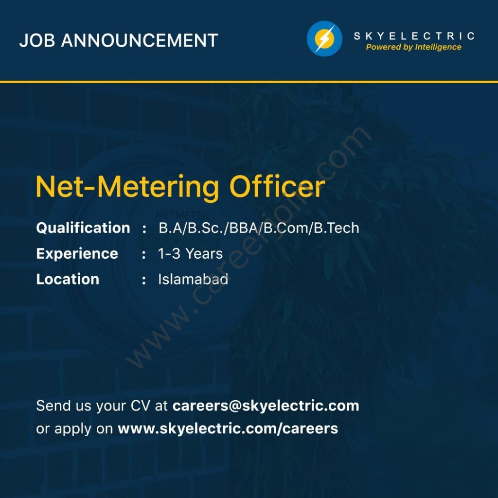 Sky Electric Pvt Ltd Jobs 2021 in Pakistan