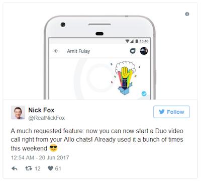 Google lakukkan pembaruan pada Google Allo dan Duo
