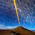 Trilhas de estrelas sobre o Observatório do Paranal