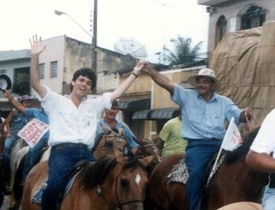 Lucio Mario e Seu Mariano em campanha em 1996
