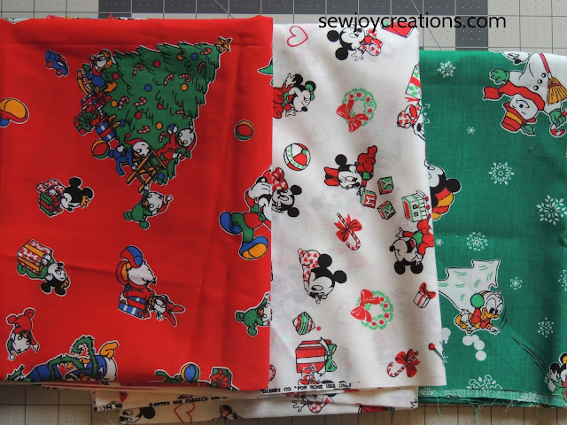 vintage disney fabrics holiday runner