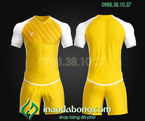Áo bóng đá ko logo TA Spe màu vàng