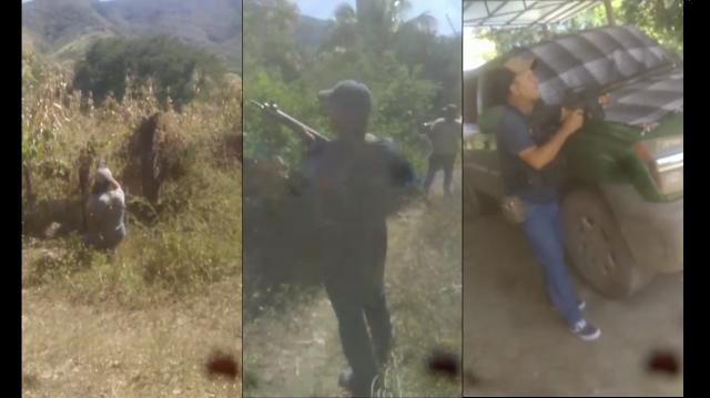 VIDEO.- Los Viagras y El Cártel de Tepalcatepec desplegando a sus guardias para impedir entrada de El CJNG