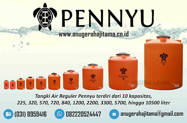 Ukuran Tandon Air Pennyu