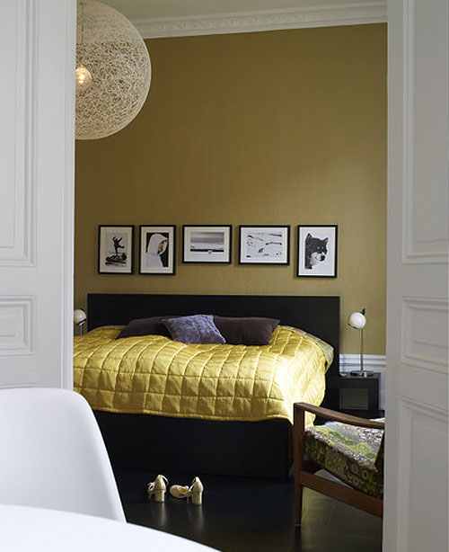 Grey Bedroom Color Ideas: Dreams And Wishes: Mustard Yellow Interiors To Inspire