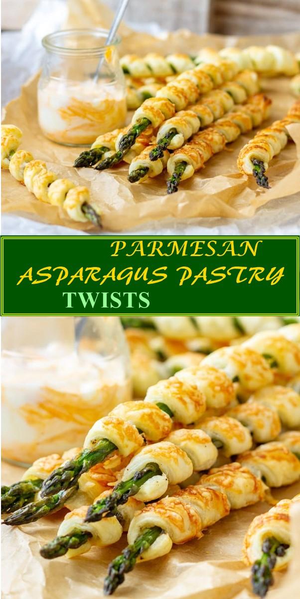 PARMESAN ASPARAGUS PASTRY TWISTS #Appetizerrecipes