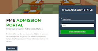 Federal Unity College NCEE Admission List Checker 2021/2022