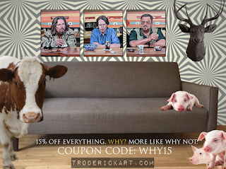 Coupon Code WHY15 15% off everything at troderickart.com