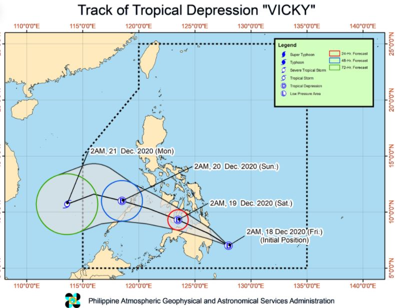 track of 'Bagyong Vicky'