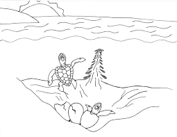 Cute Sea Shellfish Coloring Sheet Animals For Print