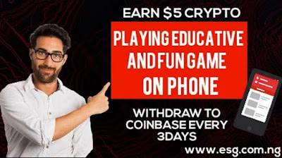 Earn $5 worth of Crypto for playing educative games on your Smartphone