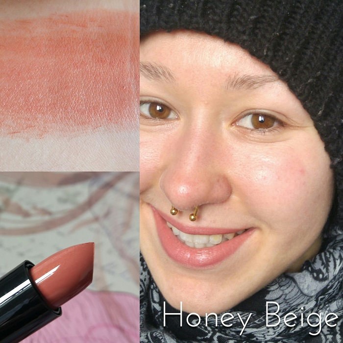Les rouges à lèvres Max & More Lipstick Swatch Honey Beige