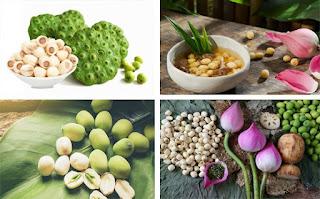 Thành phần dinh dưỡng của Hạt Sen