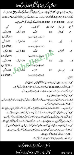 parks-horticulture-authority-pha-sargodha-jobs-2021-application-form