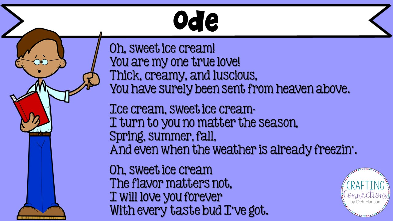hight resolution of Writing Poetry: A FREE lesson for writing odes!   Crafting Connections