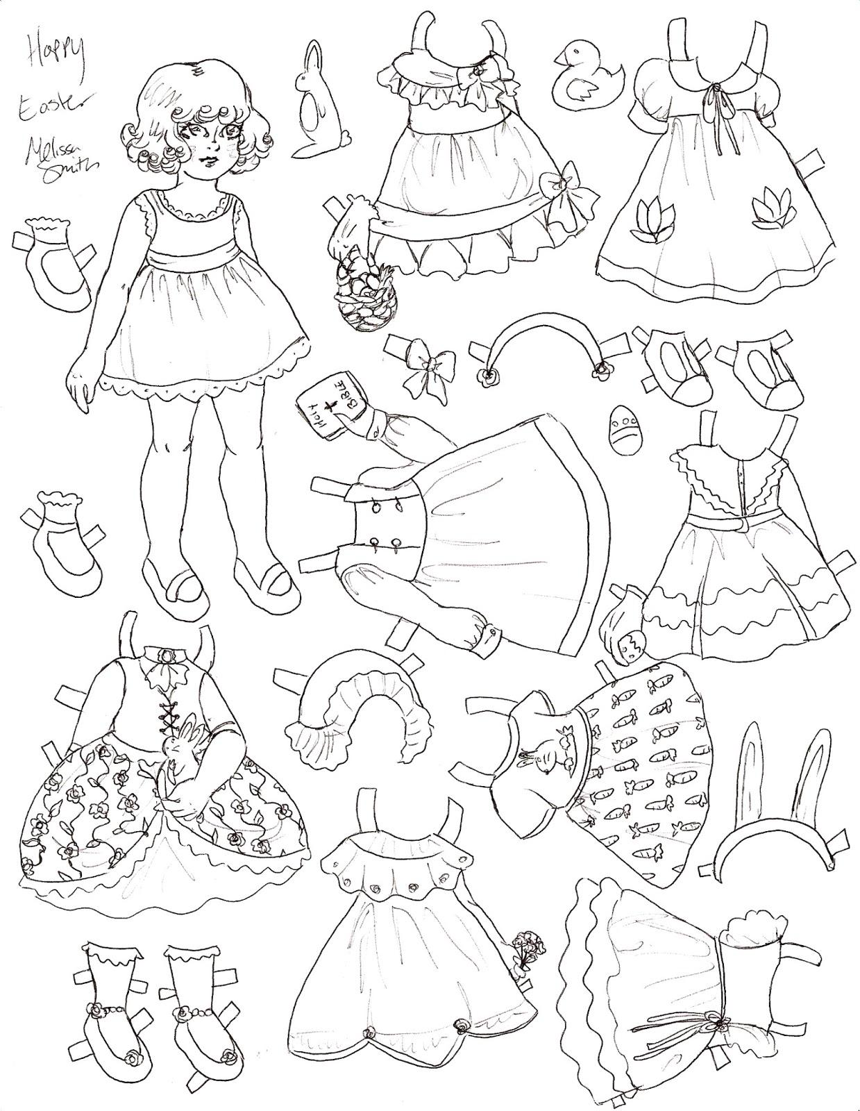 miss missy paper dolls happy easter paper doll. Black Bedroom Furniture Sets. Home Design Ideas