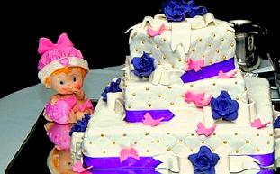 Battesimo torta bambina bomboniera