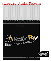 Magicfly 5 White Liquid Chalk Markers