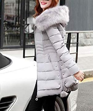 giacca piumino con pelliccia
