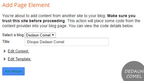 Cara Memasang Komen Disqus di Blog