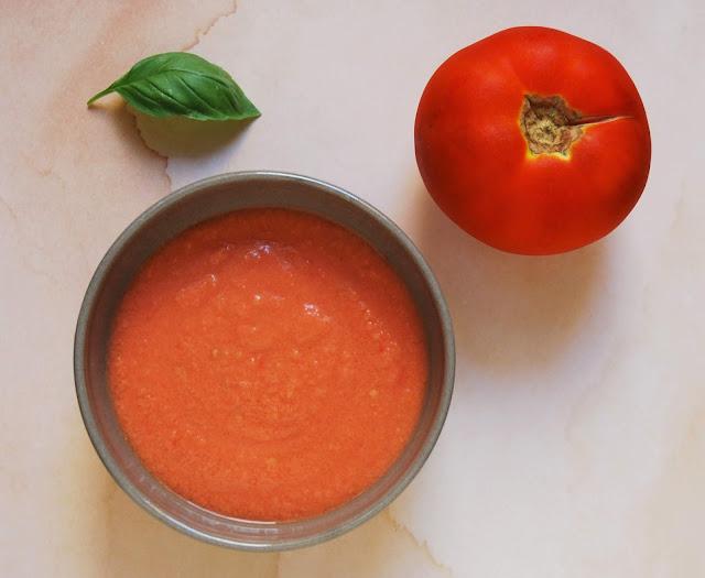 Gaspacho tomates-poivrons