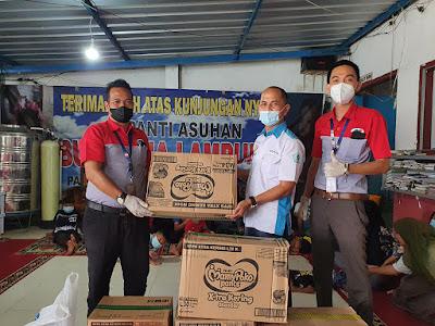 JNE Lampung Salurkan Donasi ke Lembaga Kesejahteraan Sosial Anak Bussaina