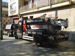 Desatascos con camión cuba en Badalona