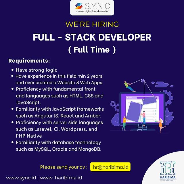 Lowongan Kerja Fullstack Developer