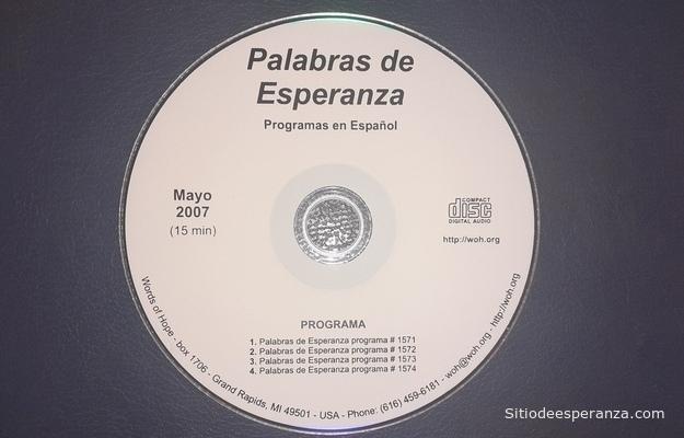 CD Programa Radial Palabras de Esperanza