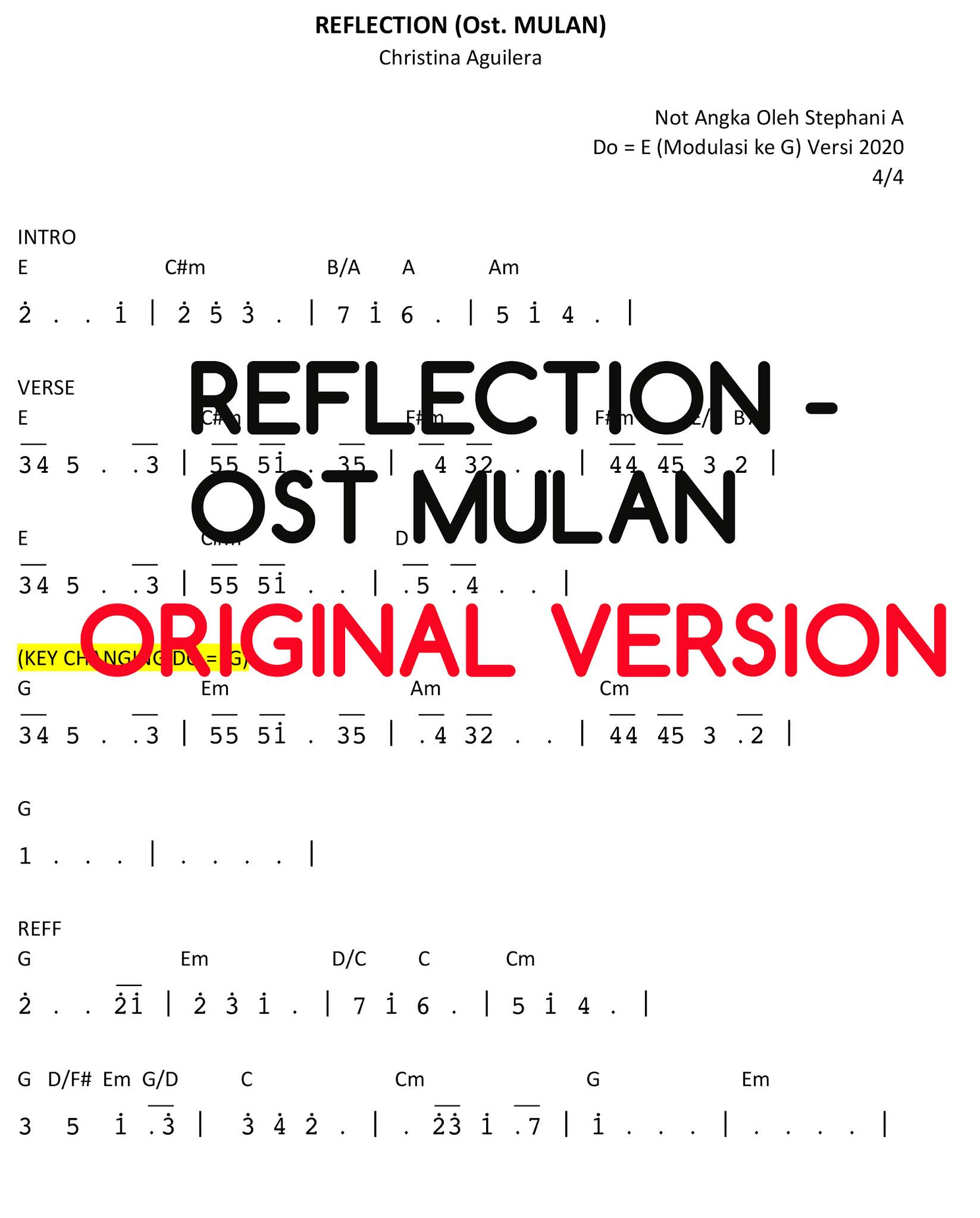 chord reflection mulan