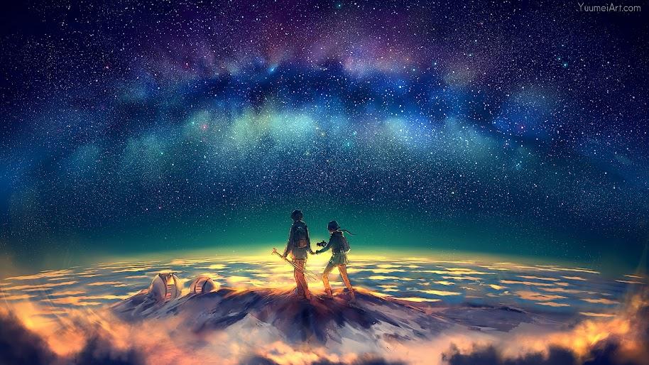 Anime Stars Night Sky Summit 4k 3840x2160 Wallpaper 50