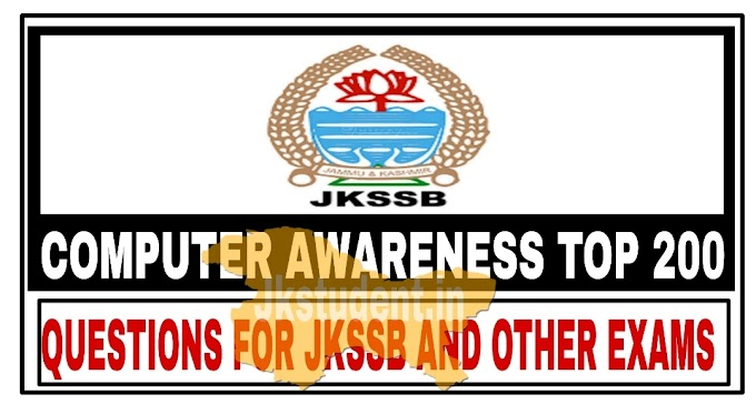 JKSSB | Most Expected Top 200 Computer Questions With Answers