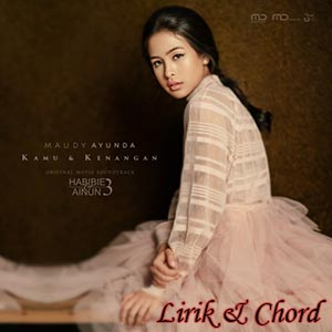 Kunci Chord Gitar KAMU & KENANGAN - MAUDY AYUNDA
